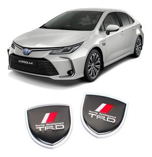Emblema Toyota Trd Corolla Etios Hilux Fielder Rav4 Sw4 Par
