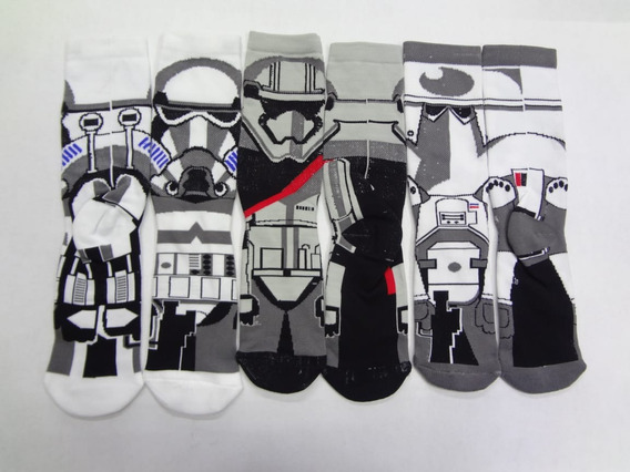 Calceta Larga Star Wars Stormtrooper Clone Tropers 3 Pares