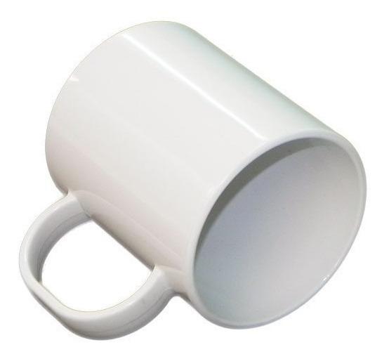 30 Caneca Sublimação Plastico Resinada Branca Polímero 325ml
