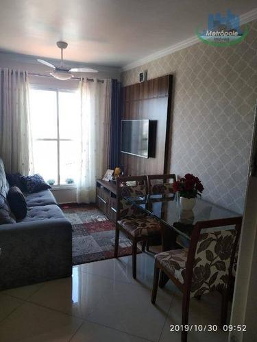 Imagem 1 de 24 de Apartamento À Venda, 48 M² Por R$ 285.000,00 - Vila Flórida - Guarulhos/sp - Sp - Ap0307_metrop