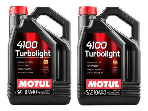 Imagen 1 de 1 de 4100 Turbolight 10w40 10 Litros Aceite Motor Motul