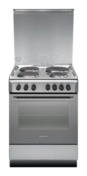 Cocina Ariston A6ESC2F 4 hornallas eléctrica acero inoxidable 220V puerta visor