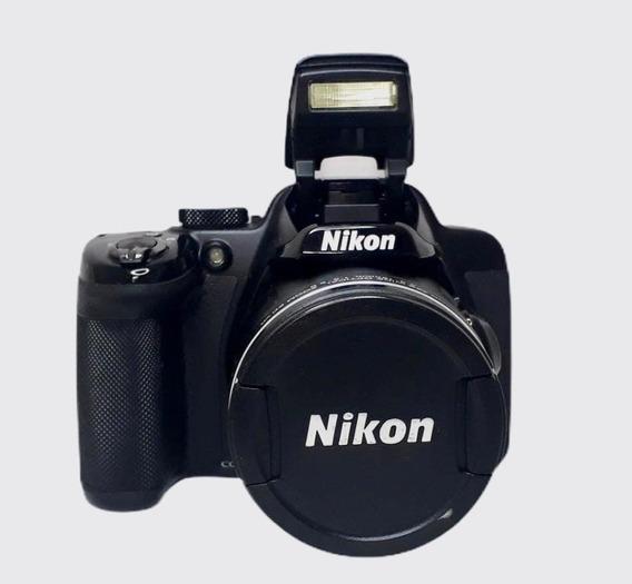 Câmera Semi Profissional Nikon Colpix P 520 Seminova Perfeit