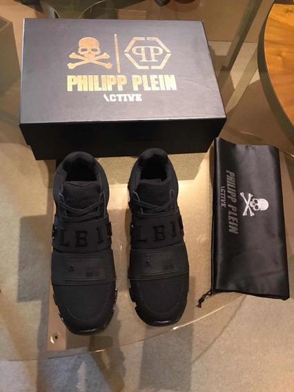 Tênis Phillipp Plein runner Xyz Skull