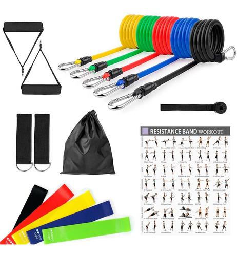 Bandas Elasticas Kit Teratubos Resistencia 16 Piezas Gym