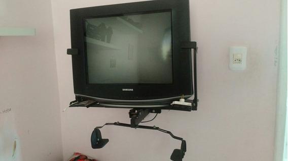 Tv 21 Samsung Slim Super Nova Com Suporte E Controle