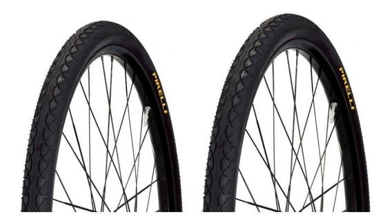 Par Pneu Bicicleta 700x45 Touring Pirelli Slick Serve Aro 29