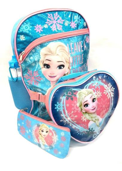 Mochila Con Lonchera Frozen Original Envio Gratis