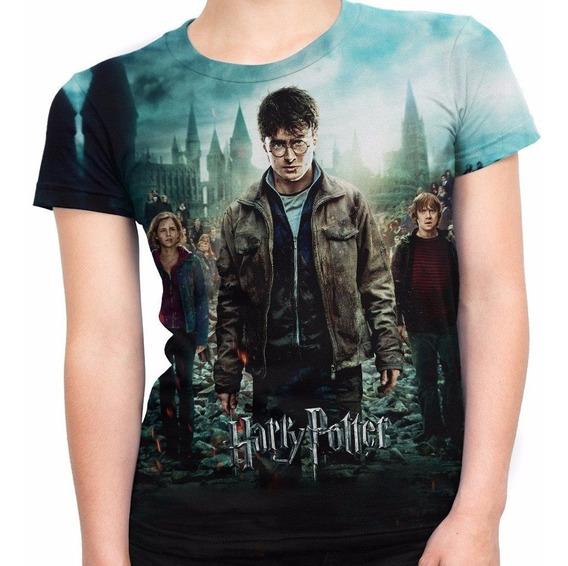 Camiseta Baby Look Filme Trilogia Harry Potter Md03