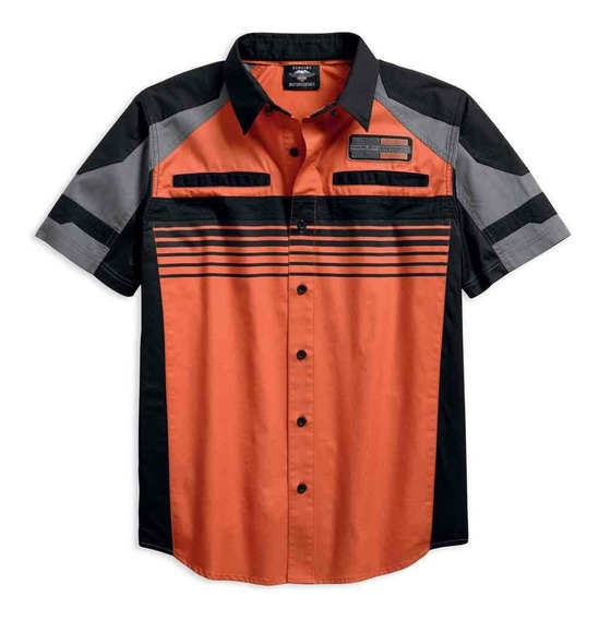 Harley Davidson Camisa Performance Vented Orange Mod 2018