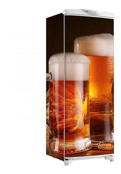 Adesivo Geladeira Envelopamento Total Cerveja Na Jarra