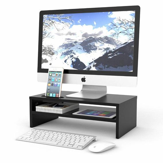 1homefurnit Universal Wood Monitor Stands Speaker Tv Pc Lap