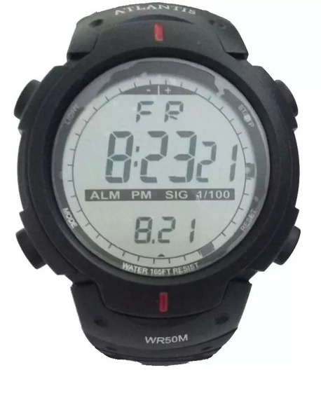 Relógio Masculino Atlantis Digital 7330g A Prova D Água