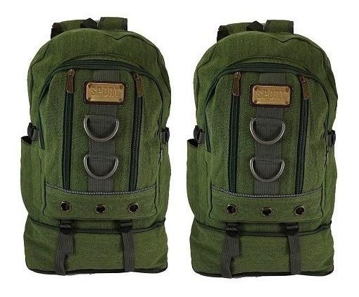 Kit De Mochilas Lona Unissex Material Lona Sport 2 Unidades