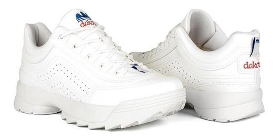Tênis Feminino Dakota G0981 Branco Flatform Dad Sneaker