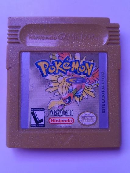 Pokemon Gold Gbc Original 100% Ok E Com Bateria Nova Trocada