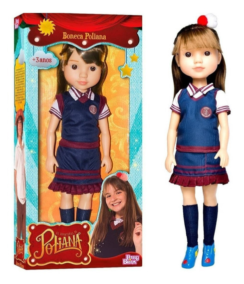 Boneca Infantil Poliana 48cm Com Brindes - Mais Barata Do Ml