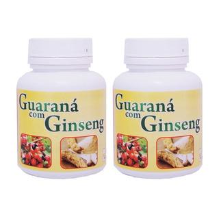 2 Potes Guaraná Com Ginseng 500mg 100 Cáps Ervas Brasillis