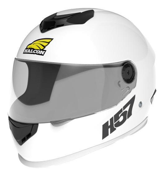 Casco Moto Halcon H57 Integral Blanco Tienda Oficial