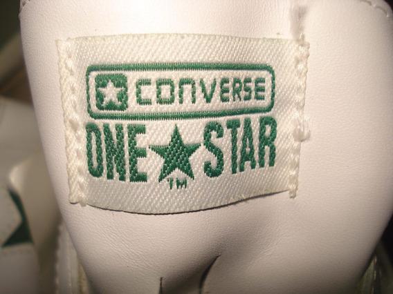 Zapatos Converce Originales De Cuero Talla 12 / 30 Cm Verde