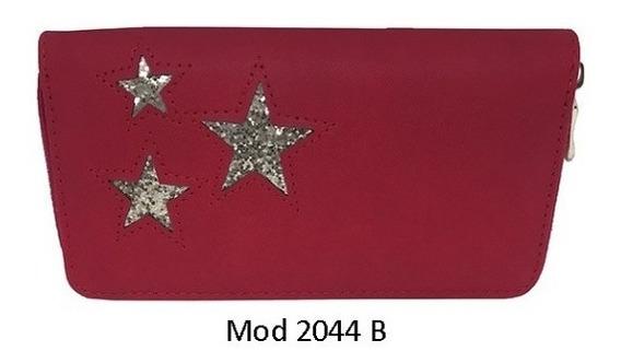 Billetera Con Detalle Tres Estrellas Brillantes Ec-2044