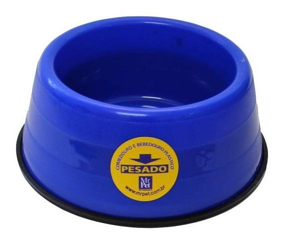 Comedouro Bebedouro Caes Pesado 1100ml Mr Pet Azul
