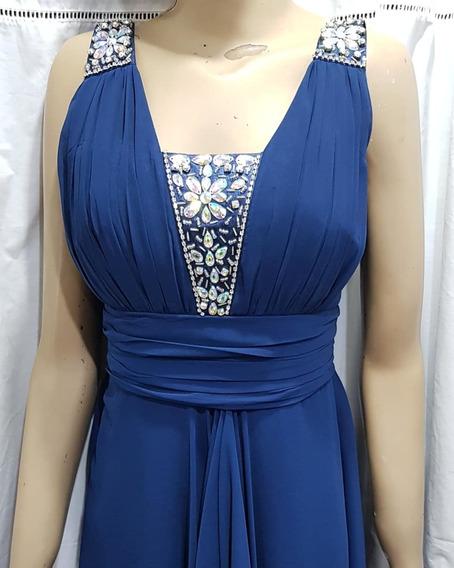 Vestido Azul .marino Largo.