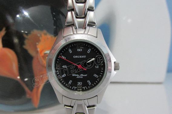 Relógio Orient 50m Feminino Todo Em Aço, Revisado E Lindo !!