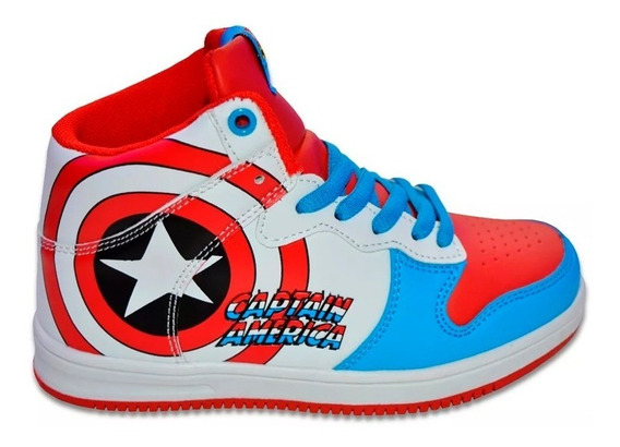 Zapatillas Marvel Casual Skater Comics Capitan Niño 18010030