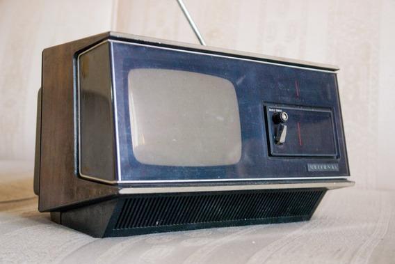 Antiguidade Rádio Tv Portátil National Anos 70 Reliquia Leia