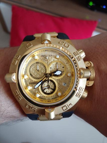 Relógio Invicta 18526 Noma - Preto E Dourado 18k Original