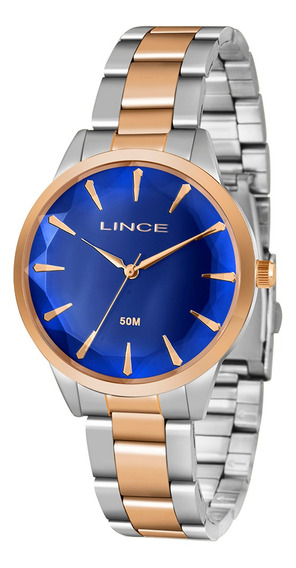 Relógio Lince Feminino Lrt4563l D1sr Prata E Rosé