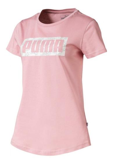 Remera Puma Graphic Logo De Mujer Rosa