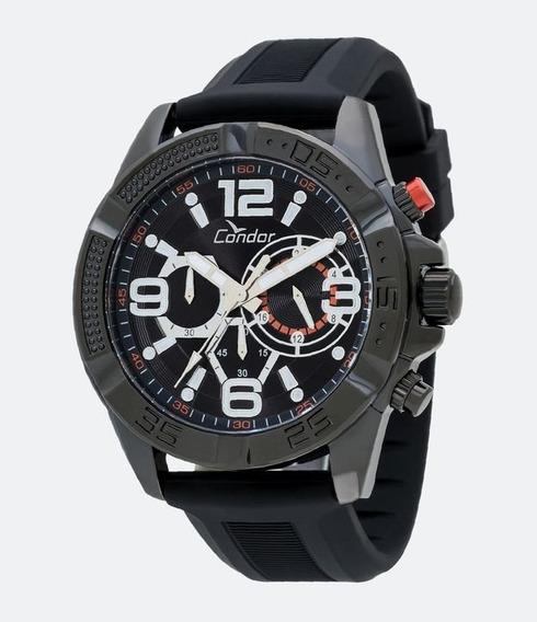 Relógio Condor Masculino Preto Cronógrafo Covd54avul/8p