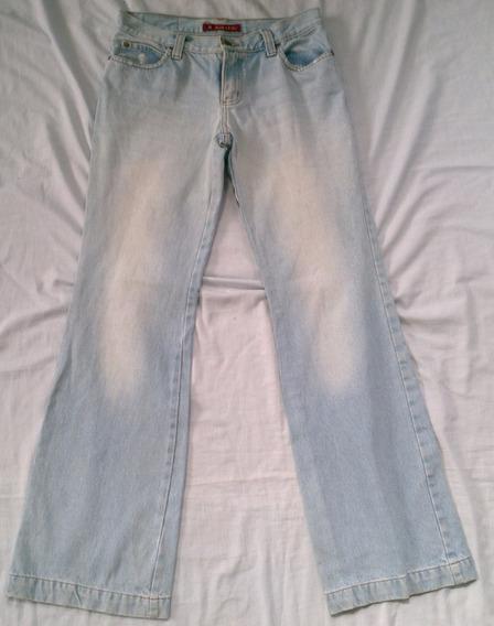 Calça Jeans Flare Hippie Tam 36 Blue Steel 5 Bolsos