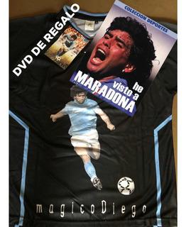 Remera Maradona Con Dvd De Regalo