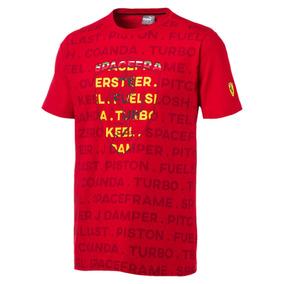 Camiseta Puma Ferrari Big Shield - Vermelho - Original