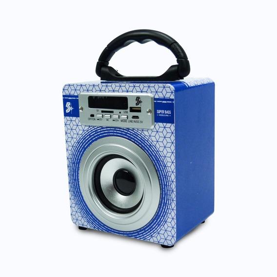 Caixa De Som Acústica Super Bass Bluetooth Usb Sd Fm Bateria