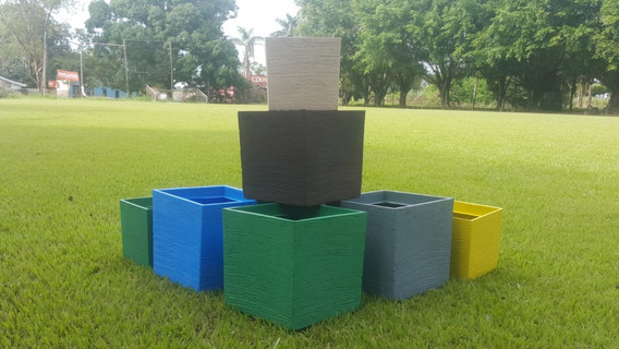 Vaso Plastico Quadrado De Planta Flor Jardim Decoração De Polietileno Grafiato 80 Litros 45cm 2,8kg
