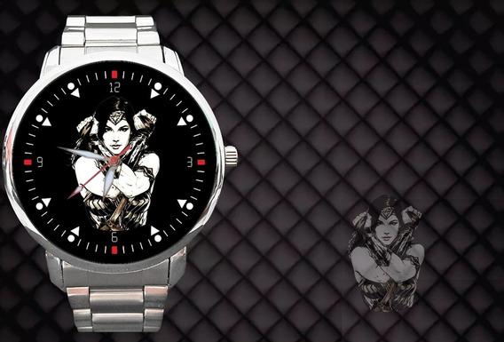 Kit 2 Relógios - Relógio Mulher Maravilha Wonder Woman