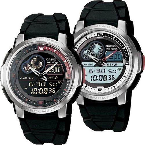 Reloj Casio Aqf102 Caucho - Termómetro - 50 Memorias 100 M