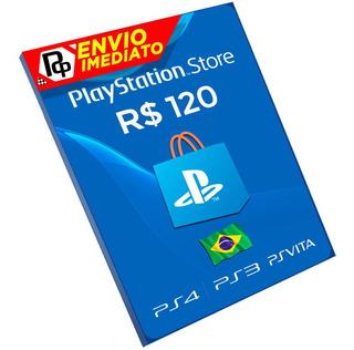 Cartão Playstation R$120 Reais Brasil Ps4/ps3/vita Rápido!