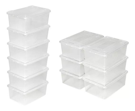 30 Cajas Plásticas Para Almacenar Artículos Zapatera