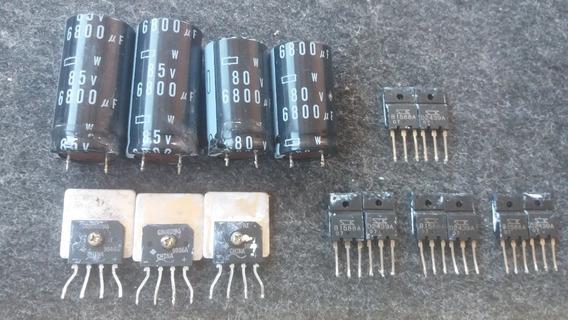 Kit Reparo Aiwa 4 Par B1588,d2493 2 Capacitor 85v 6,800 Leia