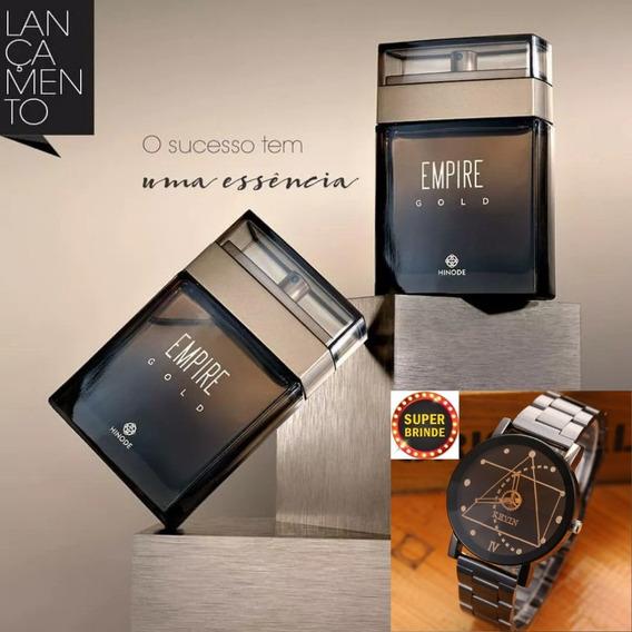 Perfume Empire Gold 100ml Lançamento Hinode + Relógio Splend
