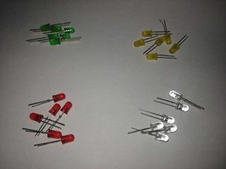 Diodos Led 5mm Colores Rojo,amarillo,verde,blanco