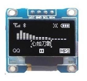 Display Oled 0.9 Branco Gráfico I2c 128x64