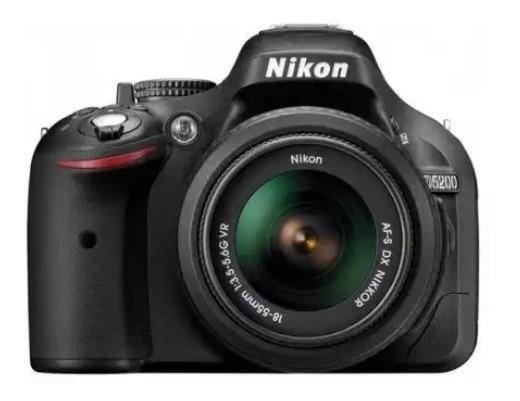 Câmera Nikon D5200 + Lente 55mm - 108mm