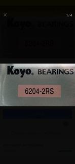 Rodamiento 6204 2rs Koyo Originales