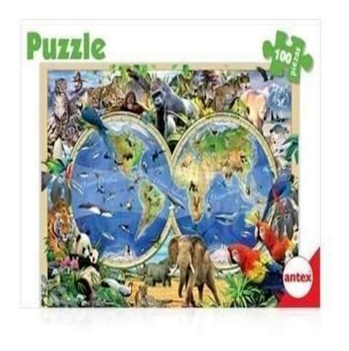 Rompecabeza Antex 3034 Puzzle 100p Animales/ Dinosaurio Edu